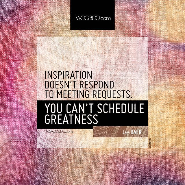 Inspiration doesn't respond to meeting requests by WOCADO.com