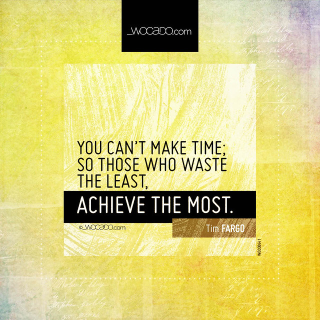 You can't make time by WOCADO.com